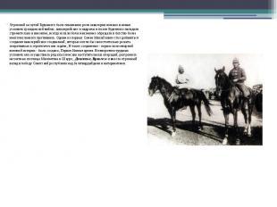 Огромной заслугой Буденного было понимание роли кавалерии именно в новых условия