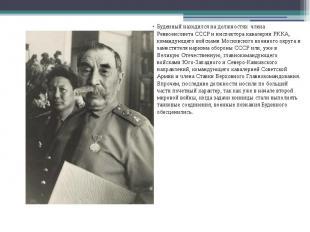 Буденный находился на должностях члена Реввоенсовета СССР и инспектора кав