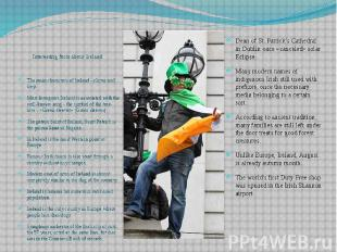 Interesting facts about Ireland Interesting facts about Ireland The main charact