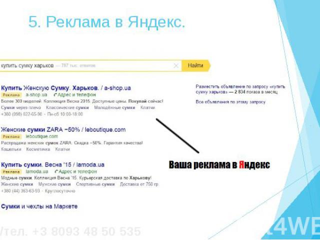 5. Реклама в Яндекс.