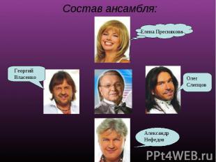 Состав ансамбля: