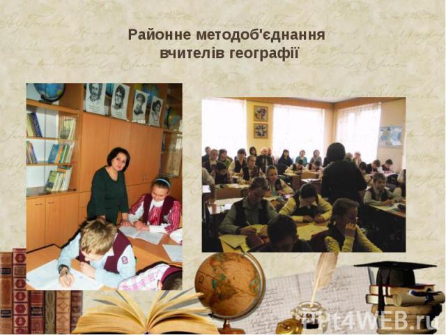 Районне методоб'єднання вчителів географії