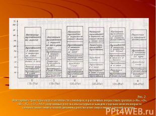 Рис. 2 Факторные структуры подготовленности семиборок в различных возрастных гру