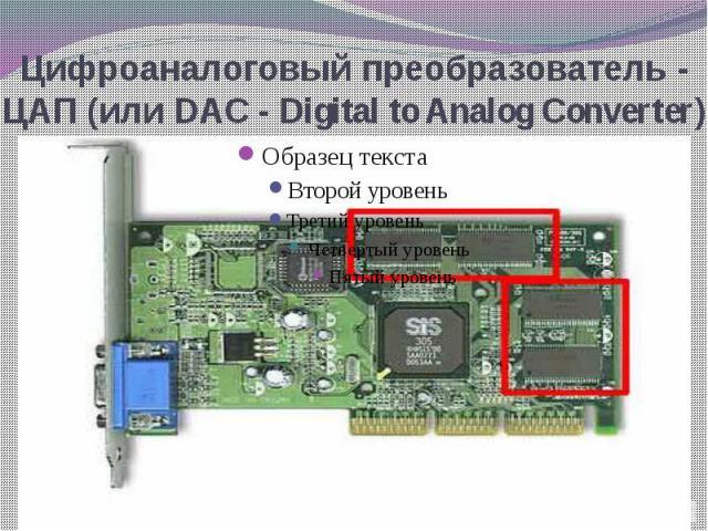 Цифроаналоговый преобразователь - ЦАП (или DAC - Digital to Analog Converter)