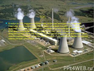 ТЭС ТЭС В выбросах ТЭС содержится значительное количество металлов и их соединен