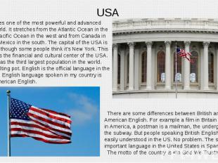 USA United States one of the most powerful and advanced countries world. It stre