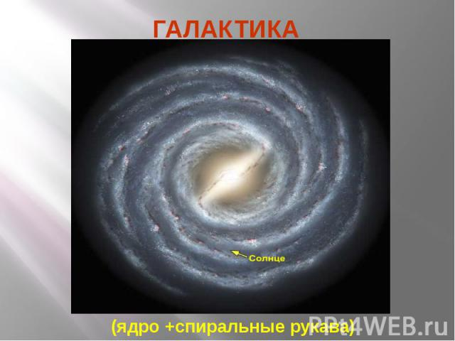 ГАЛАКТИКА (ядро +спиральные рукава)