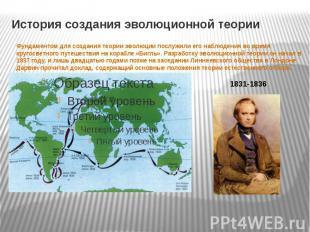 История создания эволюционной теории Фундаментом для создания теории эволюции по