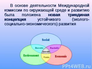 В основе деятельности Международной комиссии по окружающей среде и развитию была