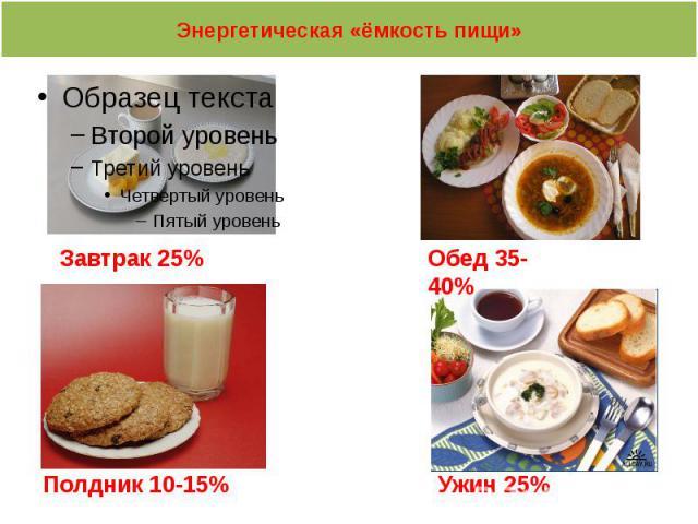 Энергетическая «ёмкость пищи»