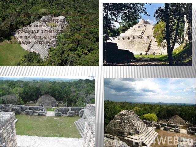 Руины древнего города Каракол на плато Вака - самый большой город майя в стране. на настоящий момент раскопано 32 крупных сооружения и 12 несколько меньших, сгруппированных вокруг пяти главных площадей, открытых для посещения.