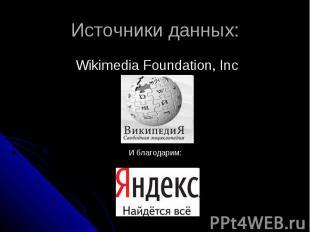 Источники данных: Wikimedia Foundation, Inc