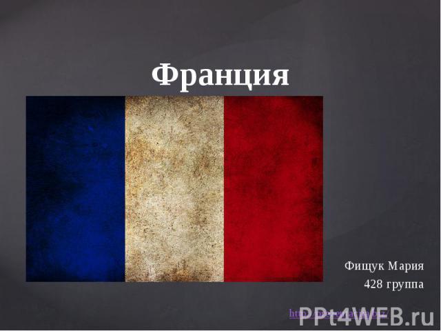 Франция Фищук Мария 428 группа