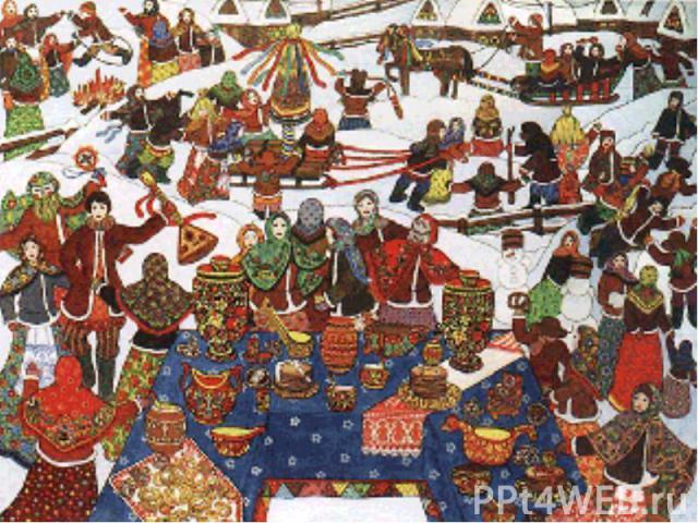 С четверга, недаром называвшегося «широким», масленичный разгул развертывался во всю ширь. Всем миром, в качестве участников или активных, заинтересованных зрителей, выходили на кулачные бои, возведение и взятие снежного города, на конские бега, кат…