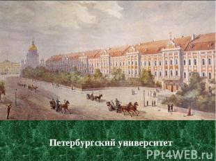 Петербургский университет Петербургский университет