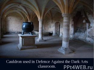 Cauldron used in Defence Against the Dark Arts classroom. Cauldron used in Defen