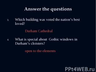 Which building was voted the nation's best loved? Which building was voted the n