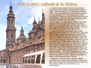 A stone's throw away from the main area in huge territory the Gothic cathedral h