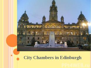 City Chambers in Edinburgh City Chambers in Edinburgh