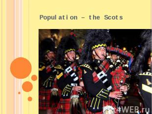 Population – the Scots
