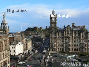 Big cities Edinburgh