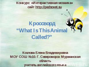 Конкурс «Интерактивная мозаика» сайт http://pedsovet.su Козлова Елена Владимиров