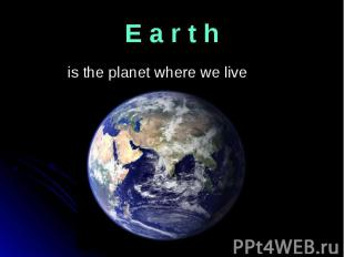 is the planet where we live is the planet where we live