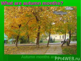 Autumn months are… Autumn months are…