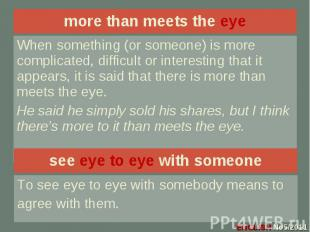 more than meets the eye more than meets the eye