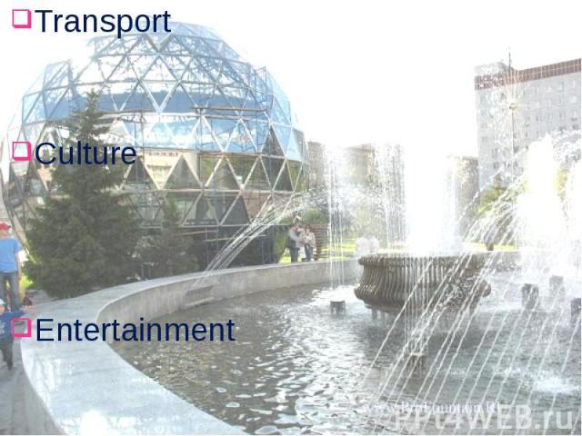 Transport Transport Culture Entertainment