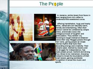 The People In Jamaica, smiles beam from faces in hues ranging from rich coffee t