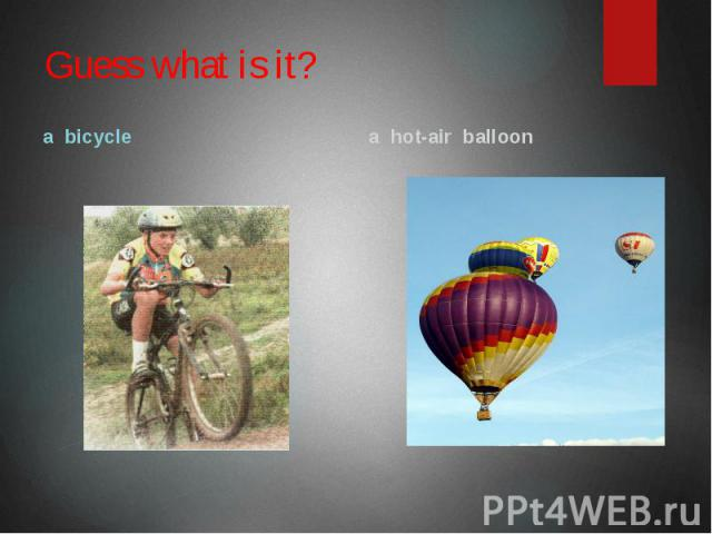 Guess what is it? a bicycle