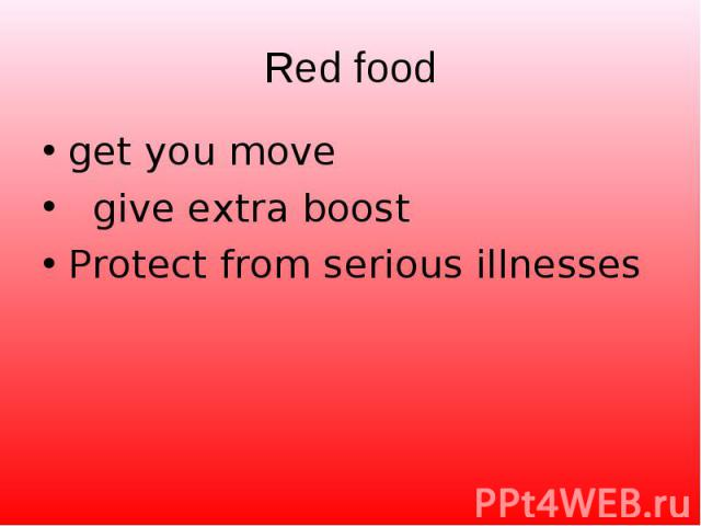 get you move get you move give extra boost Protect from serious illnesses
