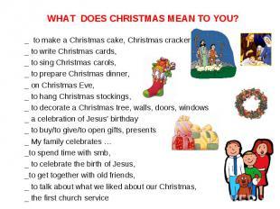 _ to make a Christmas cake, Christmas cracker, _ to make a Christmas cake, Chris