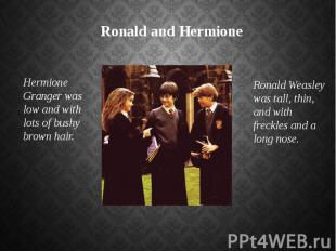 Ronald and Hermione