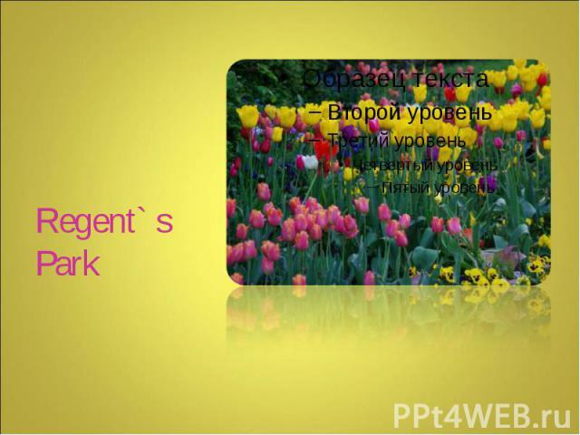 Regent` s Park