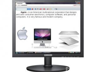Apple - is an Americanmultinational corporationthat designs and sell