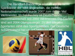 Die Handball-Bundesliga wird oft als die beste Spielklasse der Welt angesehen, d