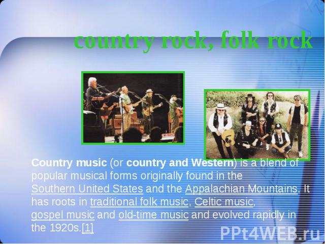 country rock, folk rock