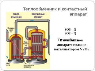 Теплообменник и контактный аппарат Теплообмен: