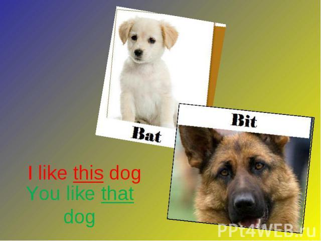 I like this dog I like this dog