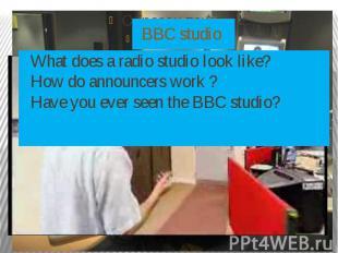 BBC studio