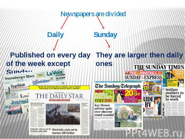 Newspapers are divided
