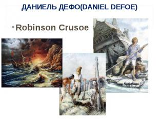 Robinson Crusoe Robinson Crusoe