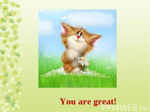 You are great!