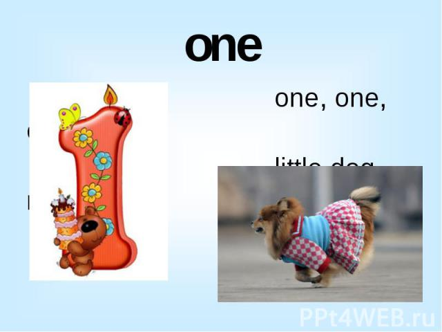 one one, one, one little dog run