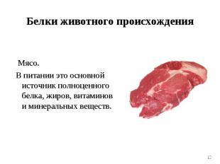 Мясо. Мясо. В питании это основной источник полноценного белка, жиров, витаминов