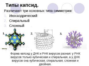 Различают три основных типа симметрии: Различают три основных типа симметрии: Ик