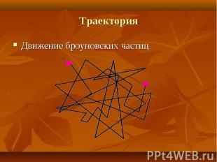 Движение броуновских частиц Движение броуновских частиц