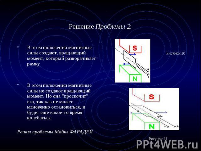 """В этом положении магнитные силы создают, вращающий момент, который разворачивает рамку В этом положении магнитные силы создают, вращающий момент, который разворачивает рамку В этом положении магнитные силы не создают вращающий момент. Но она """"п…"""